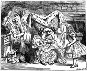 From: https://en.wikipedia.org/wiki/Duchess_(Alice%27s_Adventures_in_Wonderland)#/media/File:Alice_par_John_Tenniel_21.png
