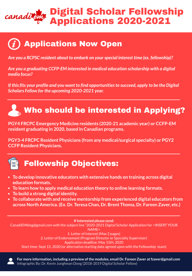 CanadiEM Digital Scholars Fellowship